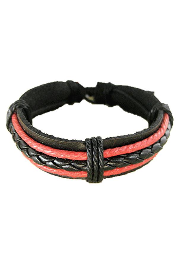 Weave Leather Rope Multi Layer Cuff Bracelet Bangle Chain Wristband Men New