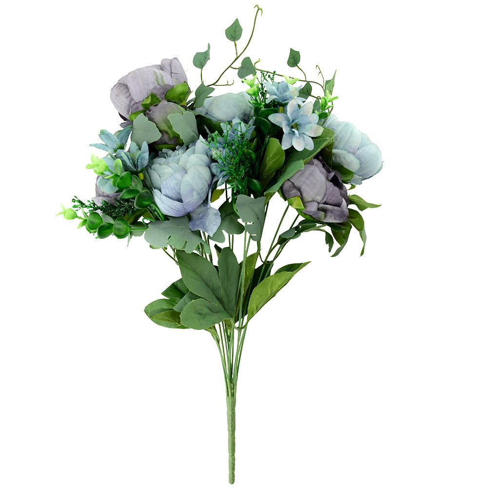 Artificial peony silk flowers bridal hydrangea decor for Artificial flower for decoration