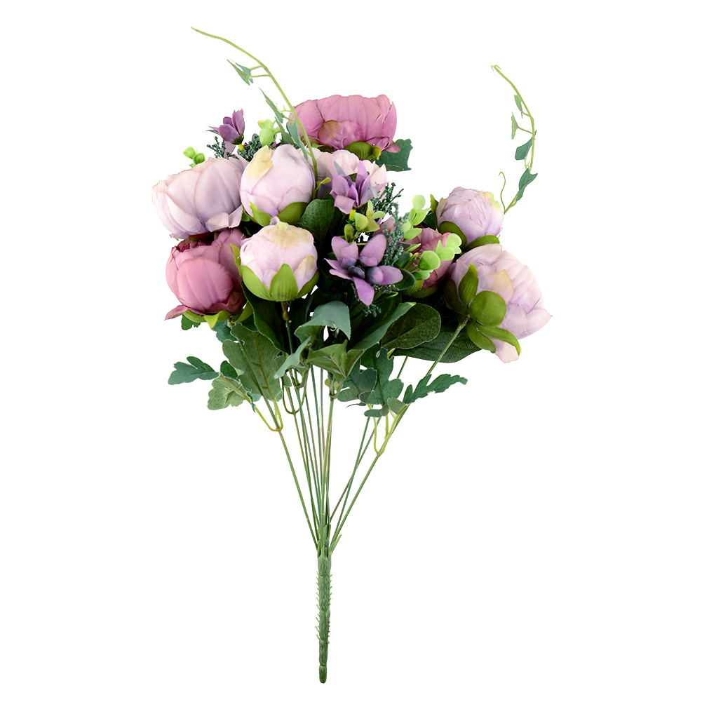 Artificial fake peony silk flowers bridal hydrangea home for Artificial flowers for wedding decoration