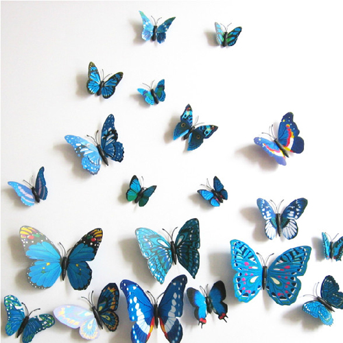 12pcs 3d butterfly sticker design decal wall decals home wall decal good look butterfly wall decals walmart