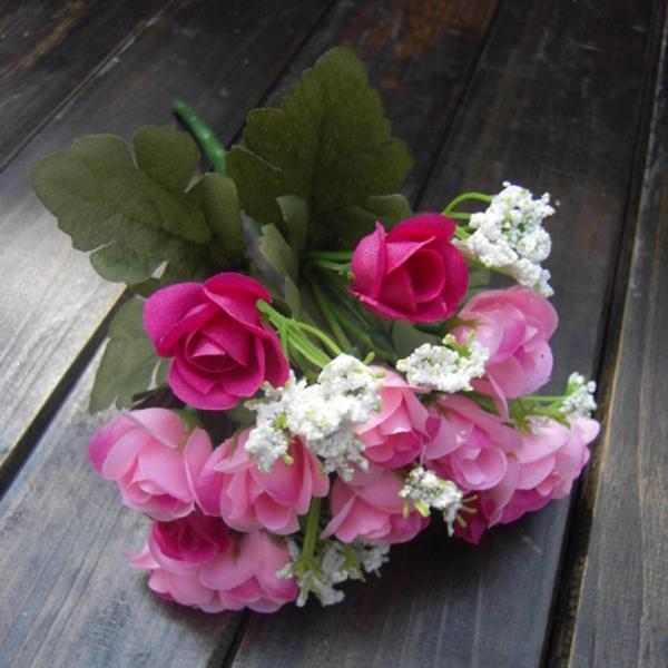 Artificial False Rose Silk Flowers Home Wedding Garden Decor Decoration