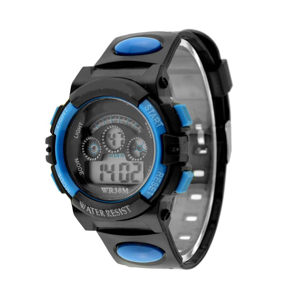 waterproof mens digital led quartz alarm date wrist watch student watches