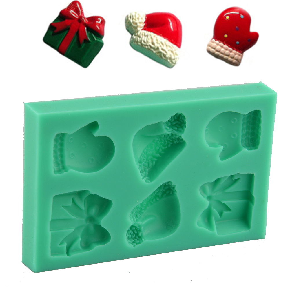 Christmas Fondant Cake Cutter Mold Cookie Baking Mould Sugarcraft Tool eBay