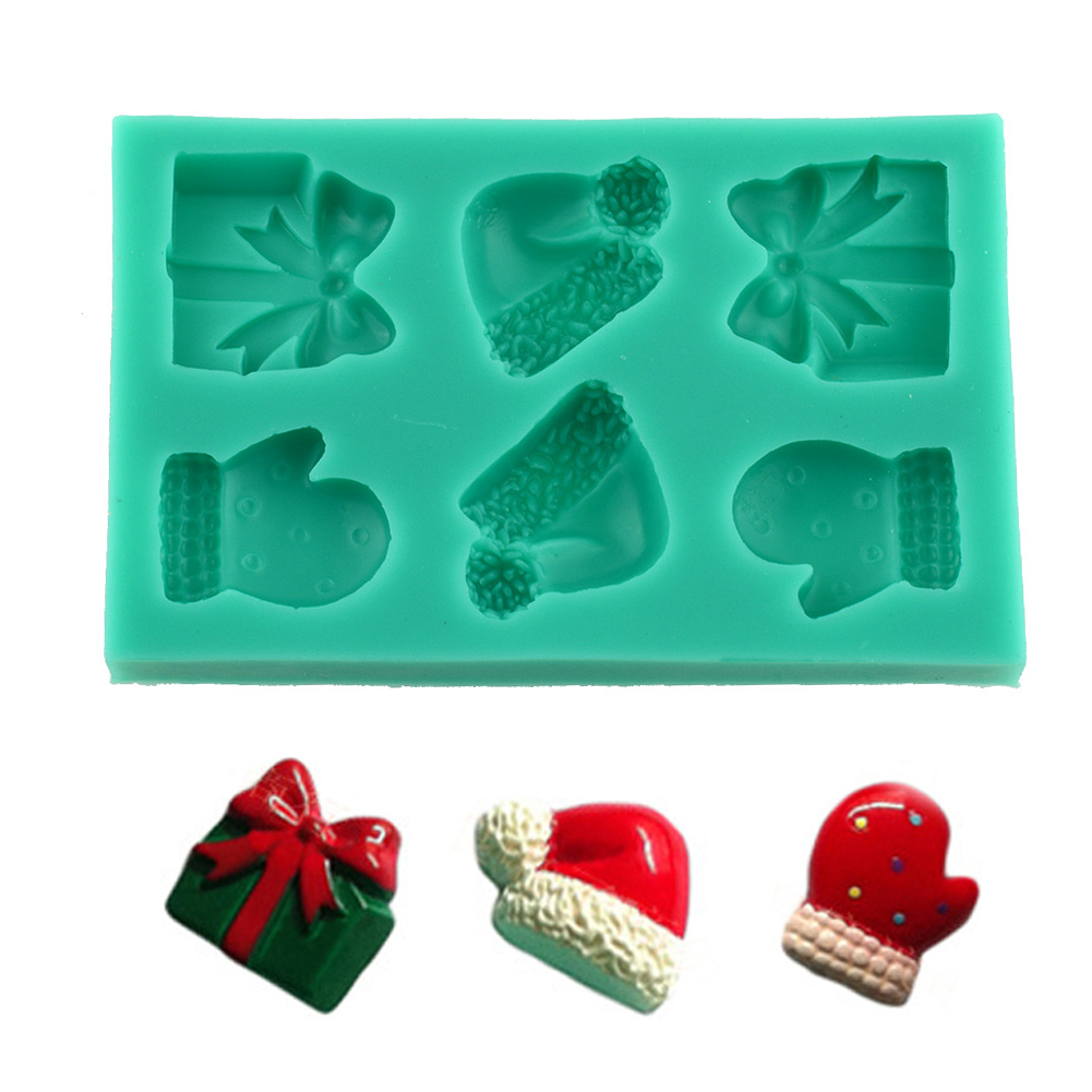 Christmas Cake Decoration Molds : Christmas Xmas Fondant Cake Decorating Cutter Mold ...