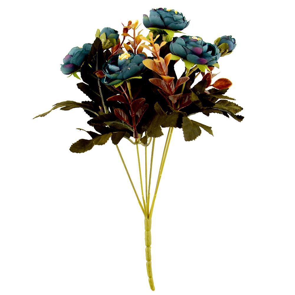 6 Branches Autumn Artificial Fake Peony Flower Arrangement Home Hydrangea Decor