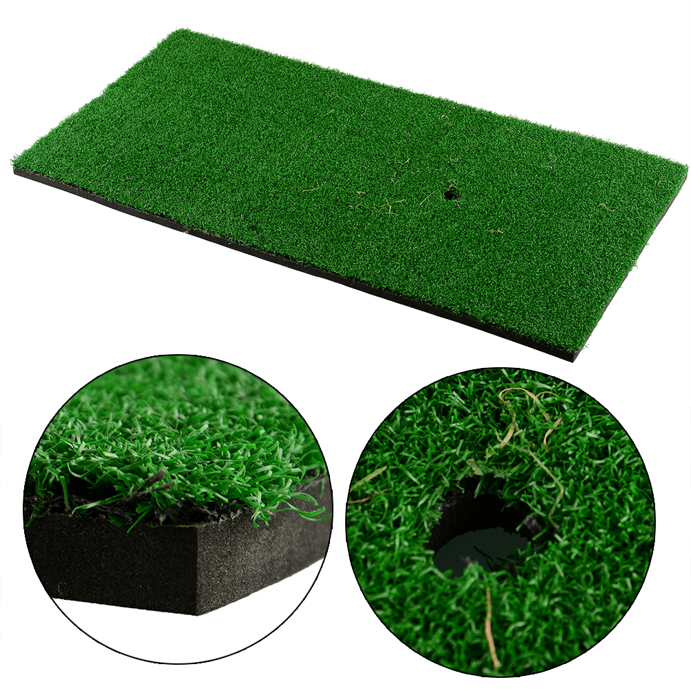backyard golf mat 12 x24 training pad practice rubber tee holder grass