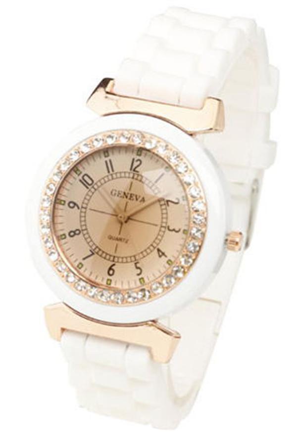 new geneva women 2017 gold watch women luxury brand new geneva ladies quartz-watch gifts for girl full stainless steel double rhinestone watches.