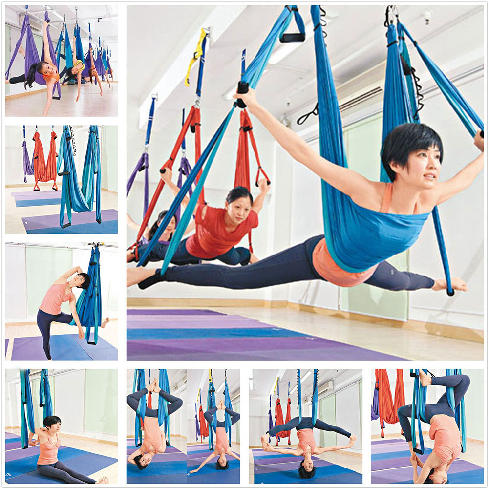 Industrious Strength Decompression Yoga Hammock Inversion Trapeze Anti-gravity Aerial Traction Yoga Gym Strap Yoga Swing Set Yoga