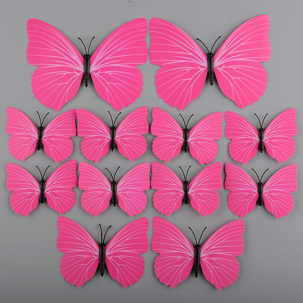 New 3D Butterfly Design Art Decal Wall Stickers Home Room 12pcs Removable Gift