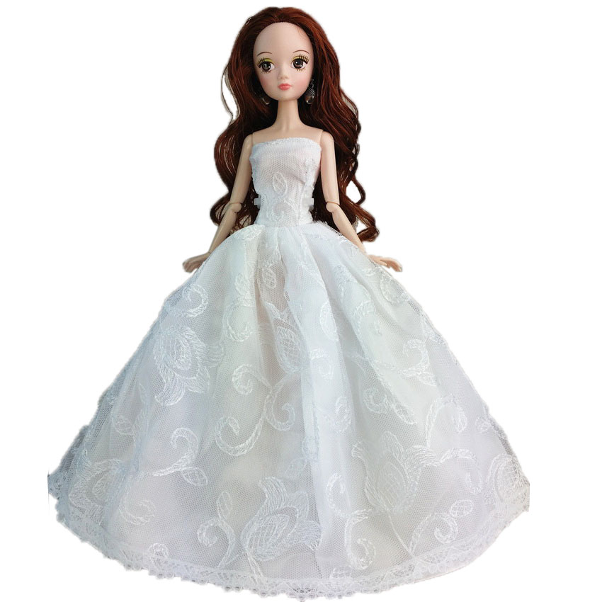 wedding gown dresses clothes outfit girl party for barbie doll gifts