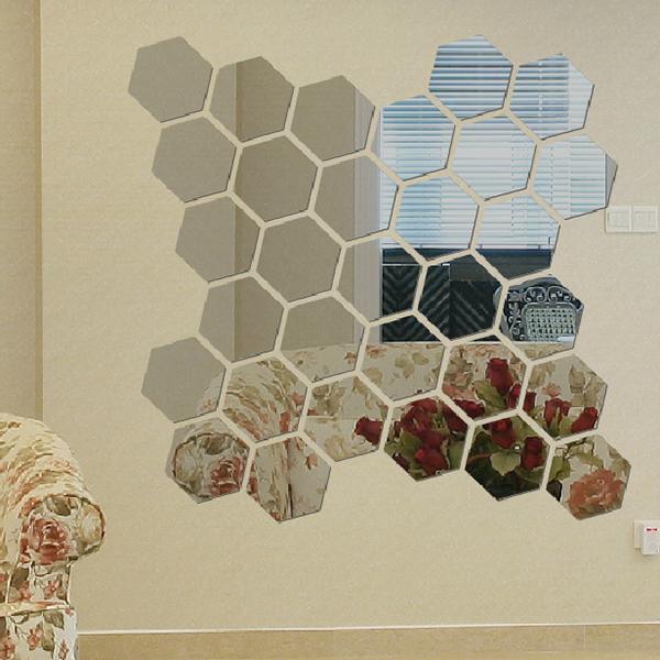 Harga Wall Sticker Deco : Harga spesifikasi oem modern piece d mirror hexagon