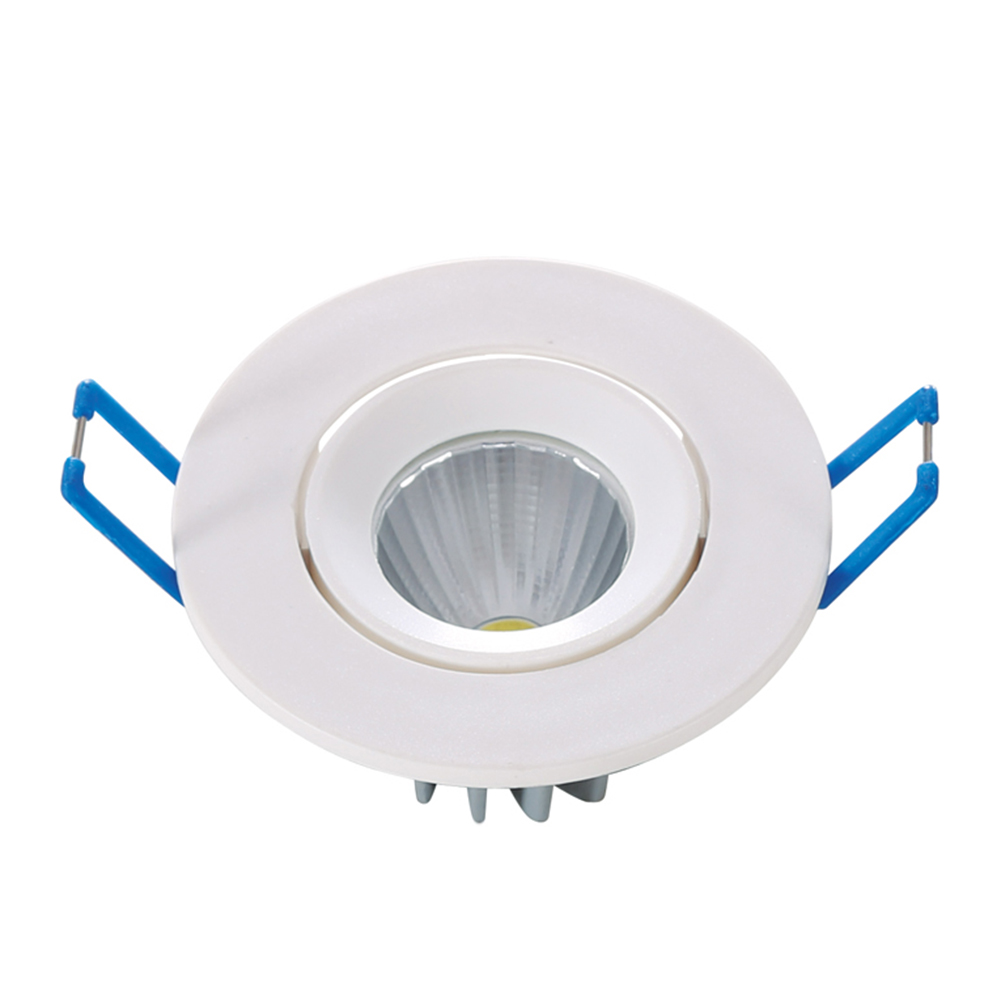 4W COB LED Durable Recessed Downlight Warm Pure White Ceiling Spot Down Light