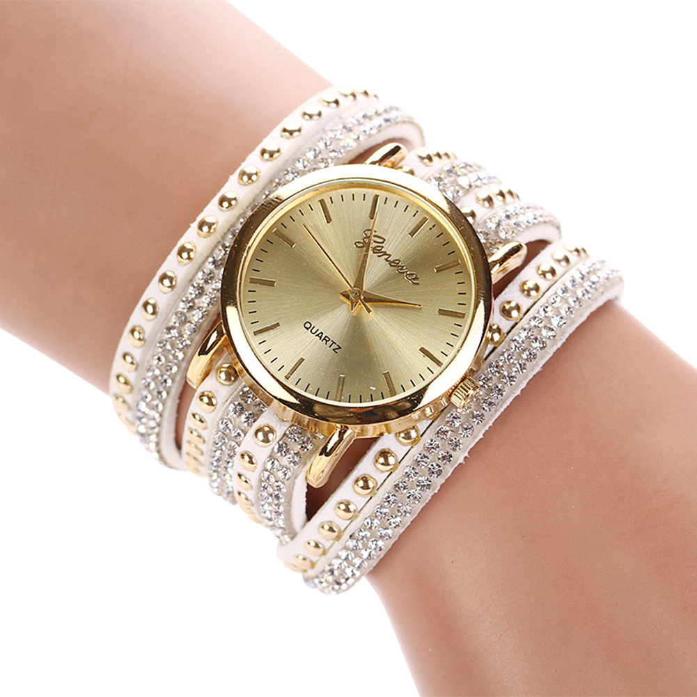 fashion multilayer leather band rivets bracelet