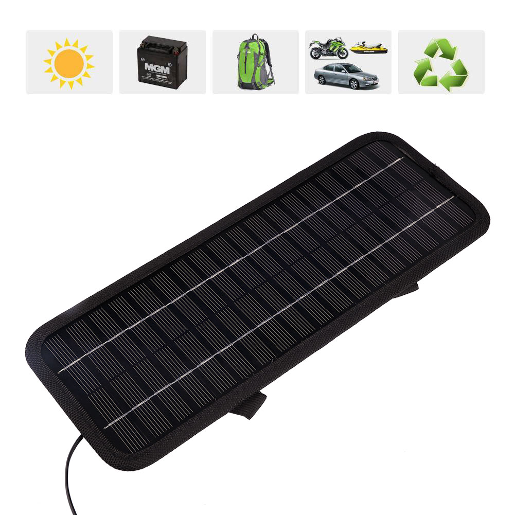 pro smart 12v 5w tragbare auto boat strom solar panel. Black Bedroom Furniture Sets. Home Design Ideas