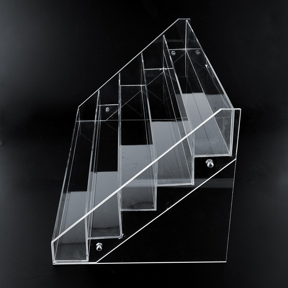 5 tier clear acrylic display stand large organizer for Acrylic bar top