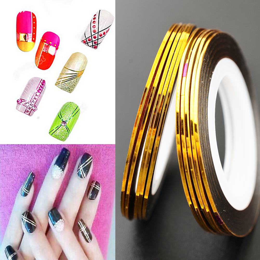 Hot 10Pcs Nail Art Striping Decoration Line Sticker Tape