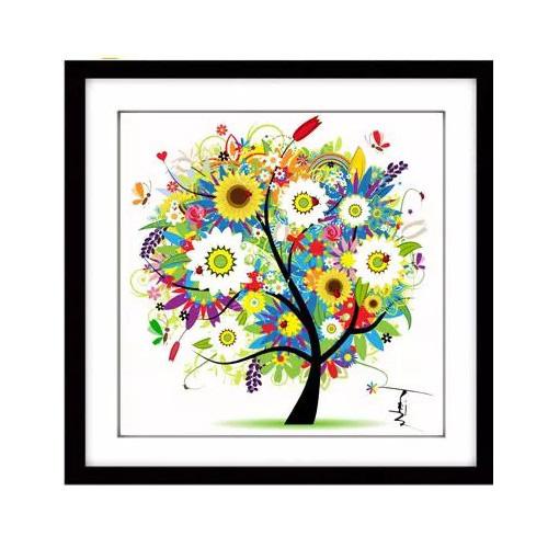 Four season home decor tree cross stitch kit embroidery for 4 season decoration