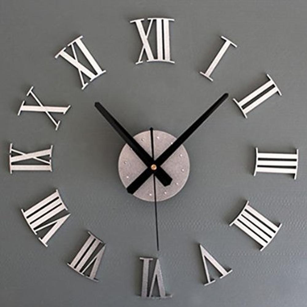 new metal diy silver vintage roman numeral number. Black Bedroom Furniture Sets. Home Design Ideas