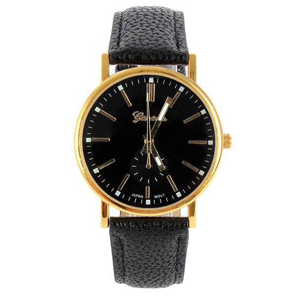 New-Men-039-s-Women-Analog-Luxury-Gold-Dial-Sport-Wrist-Watch-Strap-Bracelet