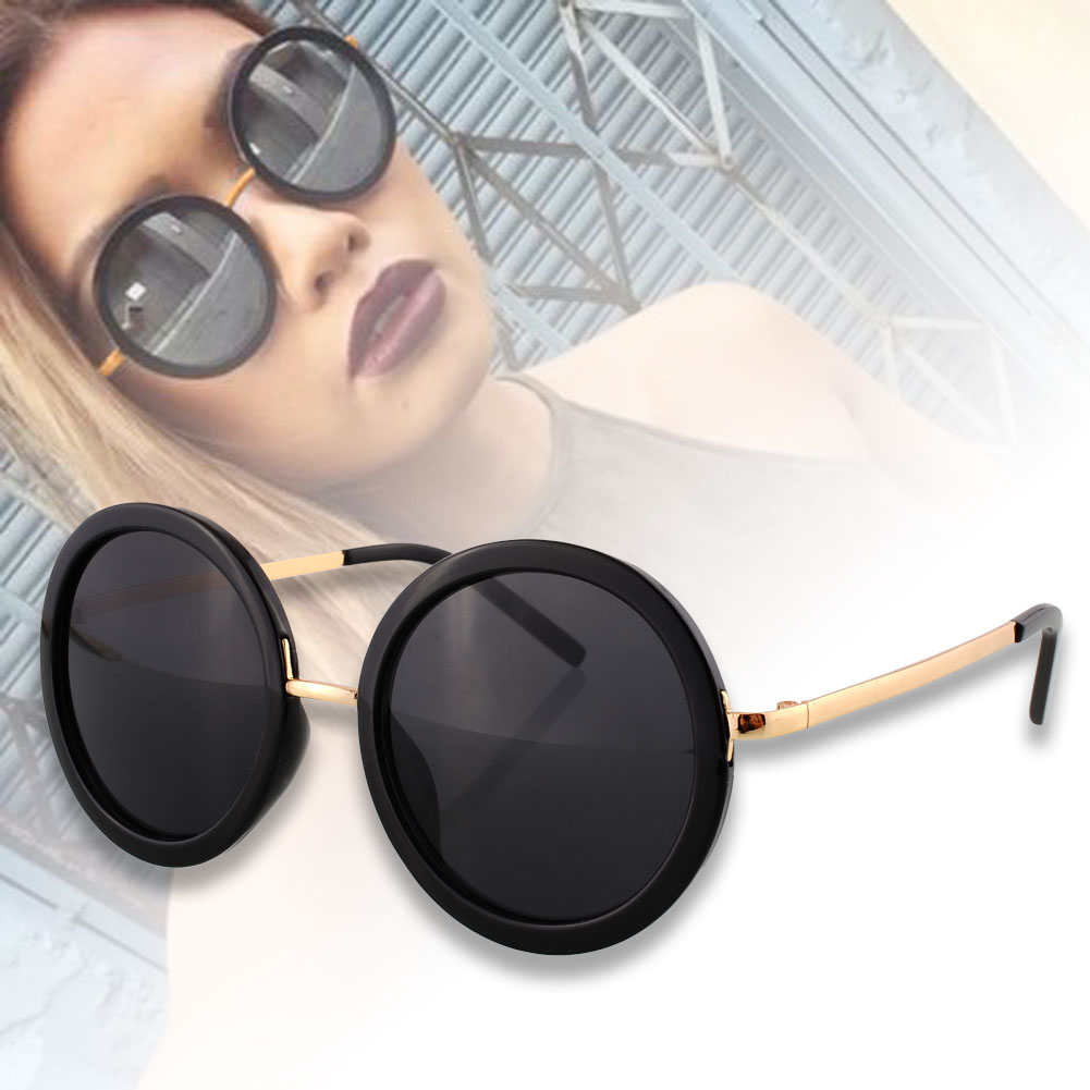 Women Fashion Eyewear Vintage Retro Lens Aviator Glasses Frame Sunglasses