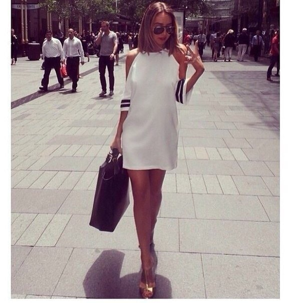 Women Summer Casual O Neck Off Shoulder Strip Cocktail Party Mini Dress