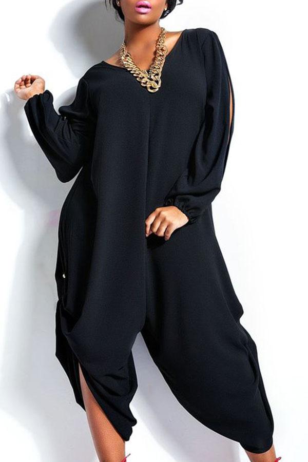 Fashion Summer Womens Long Sleeve Romper Loose Jumpsuit Plus Size Pants | EBay