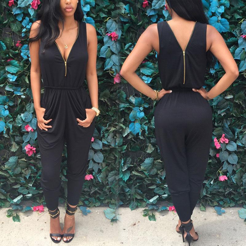 New Women Lady Sexy Deep V Long Party Clubwear Jumpsuit Pants Playsuit Romper