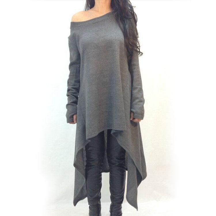 hot fashion oversize damen langarm lose bluse longshirt. Black Bedroom Furniture Sets. Home Design Ideas