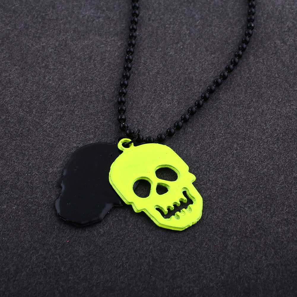 Womens-Mens-Fashion-Punk-Style-Skull-Skeleton-necklace-Hollow-Pendant-Chain