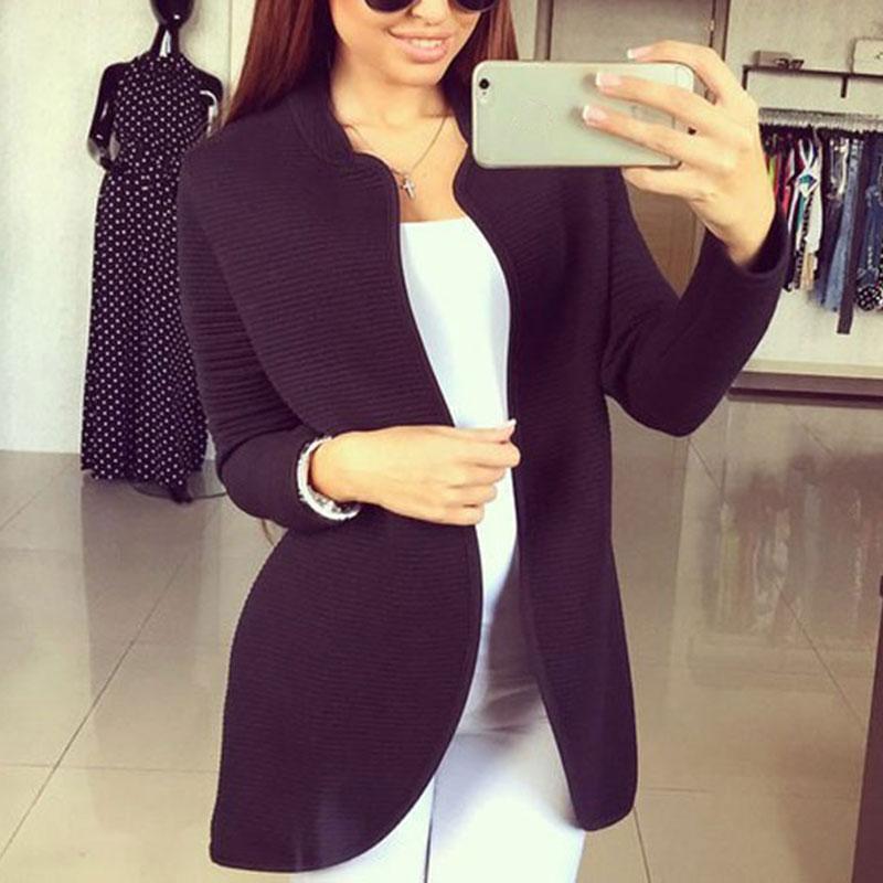 elegante damen wintermantel lang outwear cardigan top coat. Black Bedroom Furniture Sets. Home Design Ideas