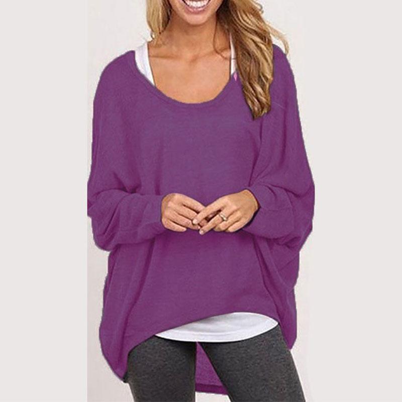 damen lose pullover t shirt klassisch bluse tunika top sweat shirt lang bluse ebay. Black Bedroom Furniture Sets. Home Design Ideas