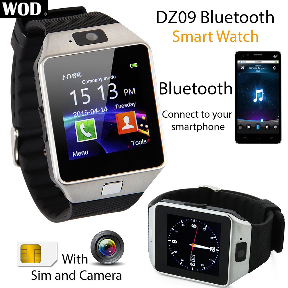 2016 WOD DZ09 Bluetooth Smart Watch Phone GSM