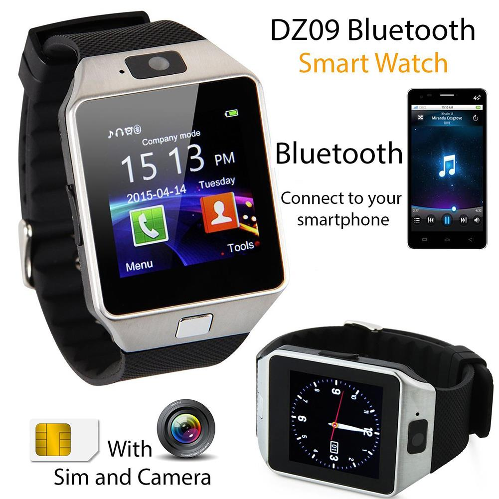 dz09 bluetooth smart armbanduhr watch mit kamera sim f r. Black Bedroom Furniture Sets. Home Design Ideas
