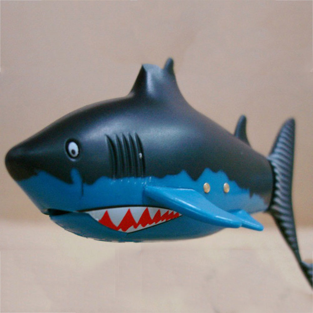 Shark Boat Toy : Coke can radio rc mini electric electronic shark fish boat