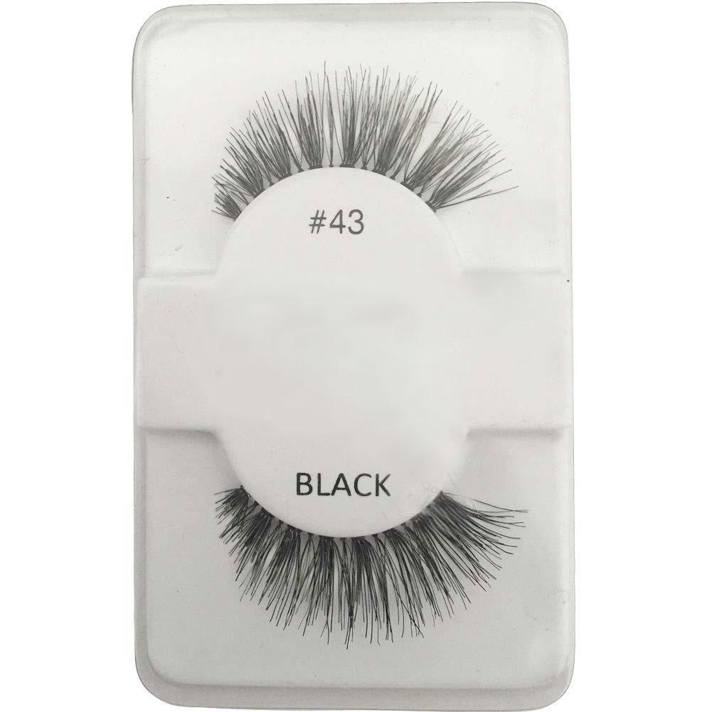 Fashion soft False Human Hair Eyelashes Adhesives Thick Long Black Eye lashes