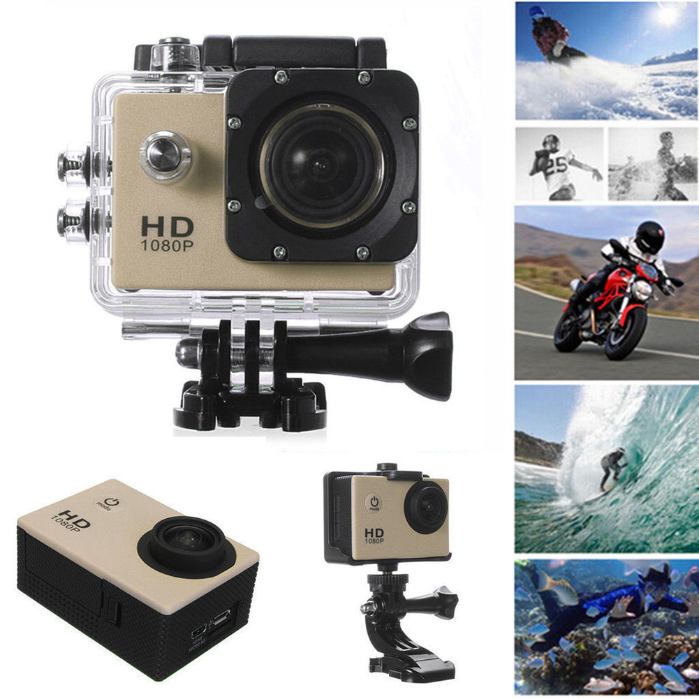 12mp Hd 1080p Sports Action Waterproof Camera Mini Dv