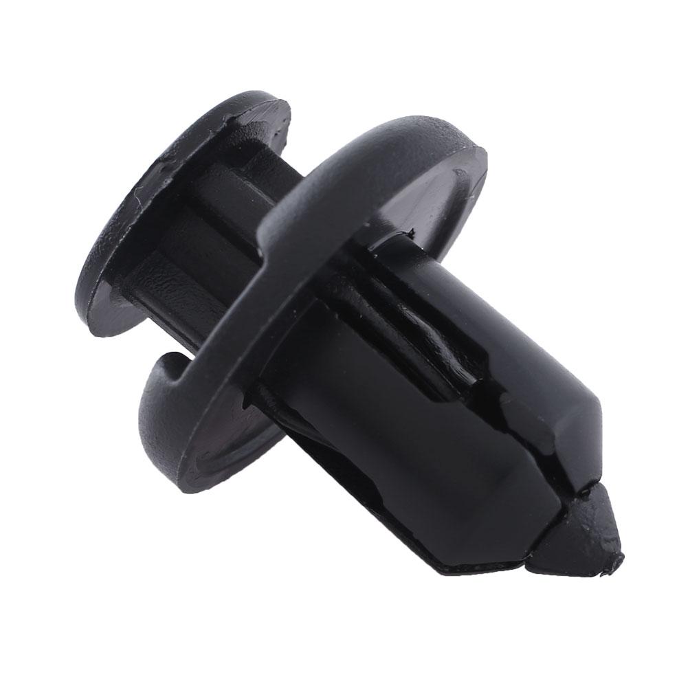 100pcs black plastic rivets retainer clips car fender. Black Bedroom Furniture Sets. Home Design Ideas