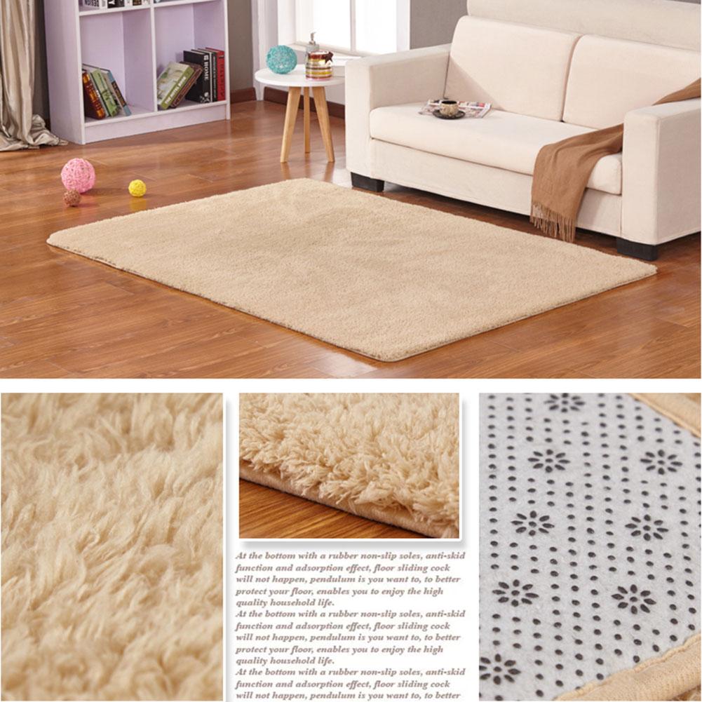 anti skid fluffy shaggy area rug room bedroom carpet floor