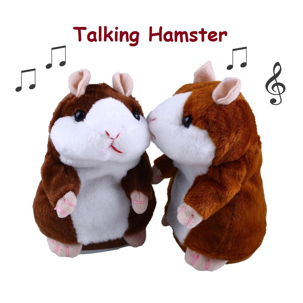 lovely talking hamster speak sound record repeat stuffed plush kids toy ebay. Black Bedroom Furniture Sets. Home Design Ideas