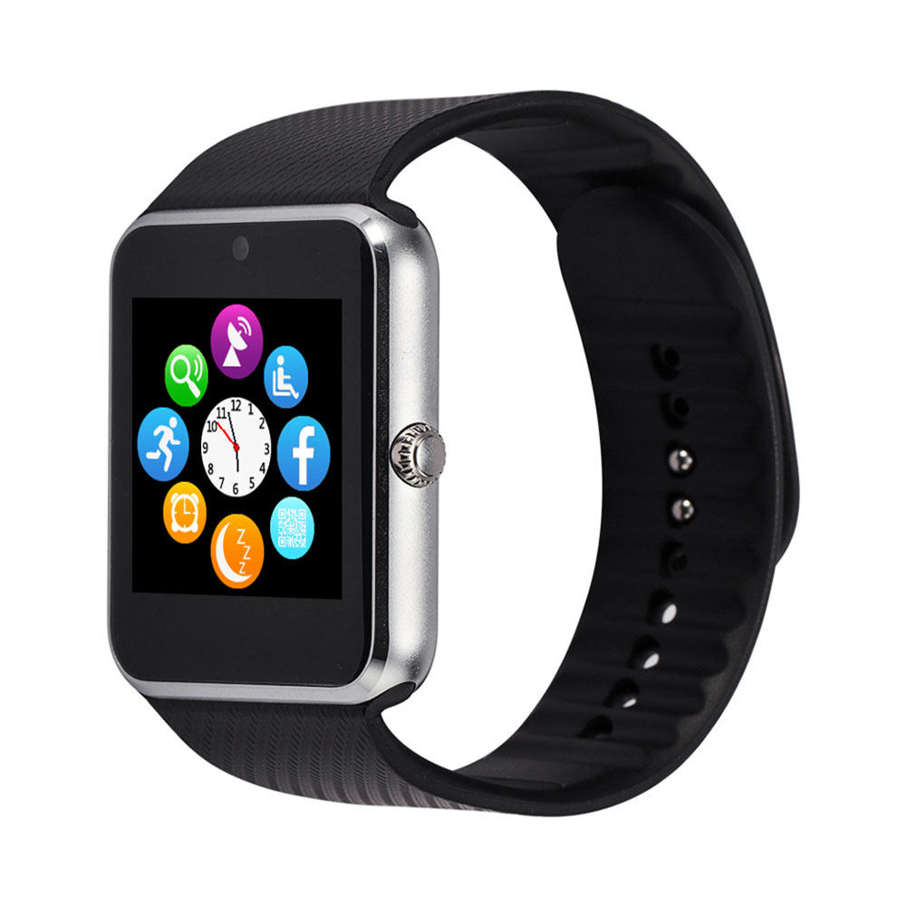 gt08 bluetooth smart wrist watch gsm phone for android. Black Bedroom Furniture Sets. Home Design Ideas