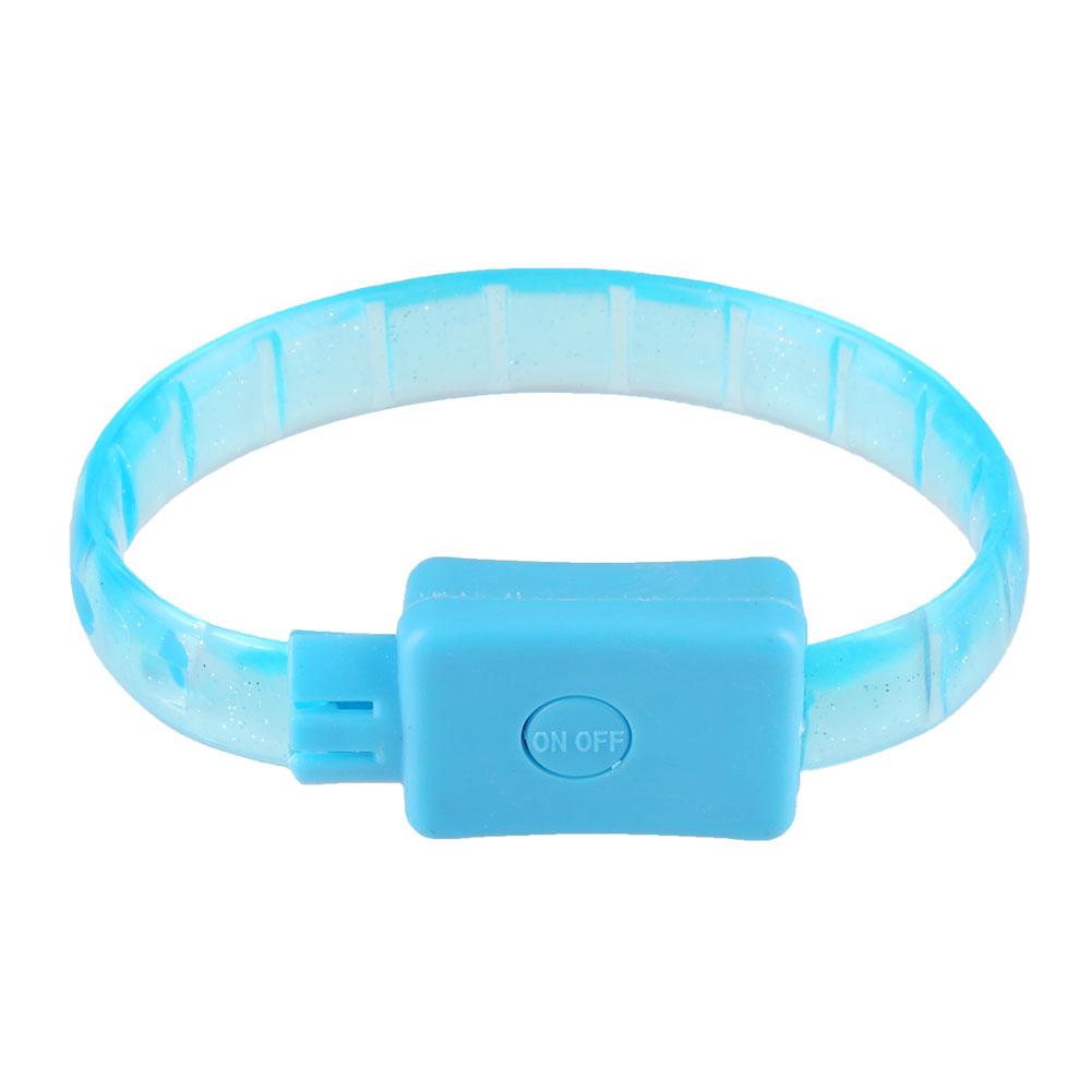 led blinkt silikon wristband leuchtarmband armband laufen jogging radfahren ebay. Black Bedroom Furniture Sets. Home Design Ideas