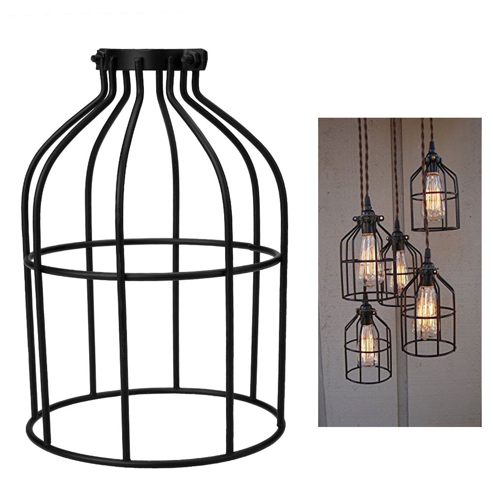Metal Bird Cage String Lights : Metal Hanging Guard for Pendant String Light Lamp Holder Wire Iron Bulb Cage eBay