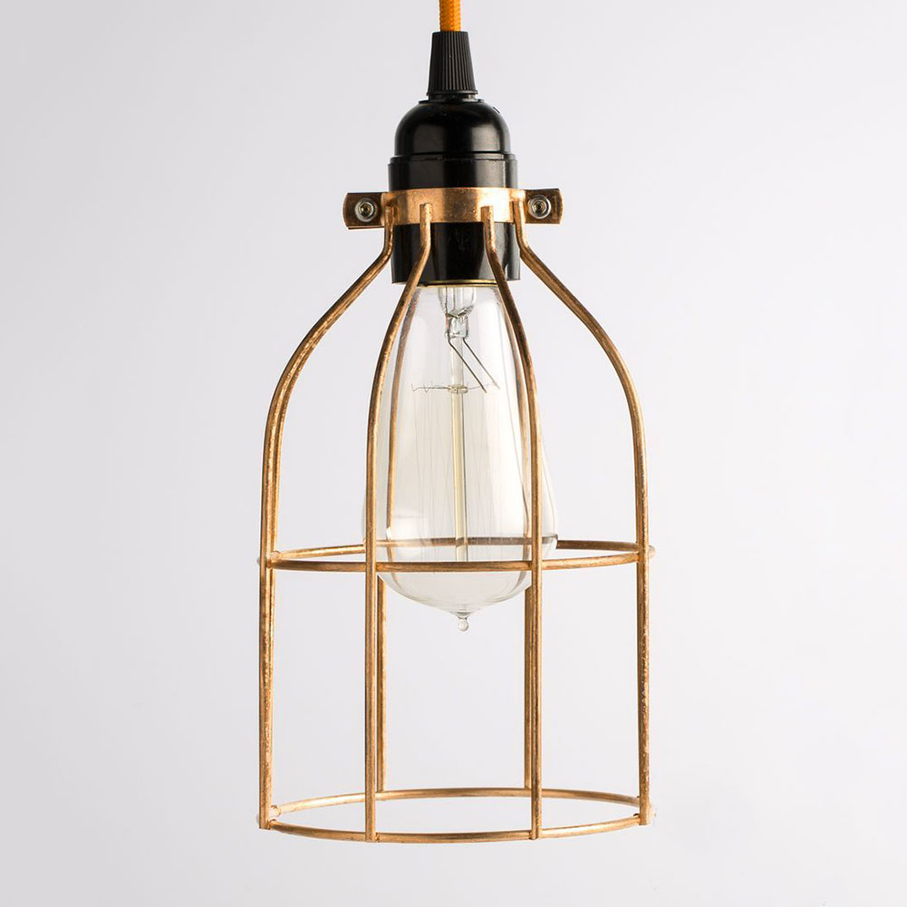 Metal Hanging Guard For Pendant String Light Lamp Holder