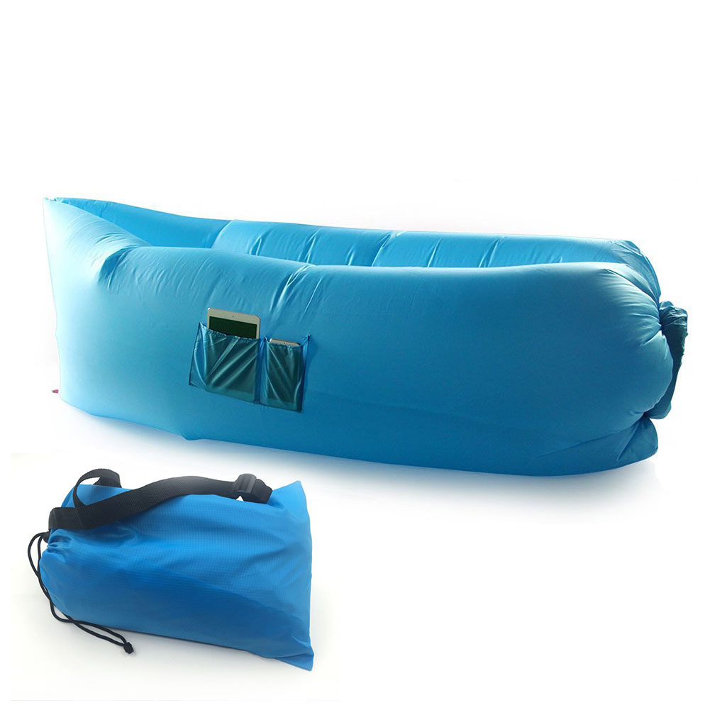 Inflatable Chair Air Sofa Bag With Pocket Outdoor Beach
