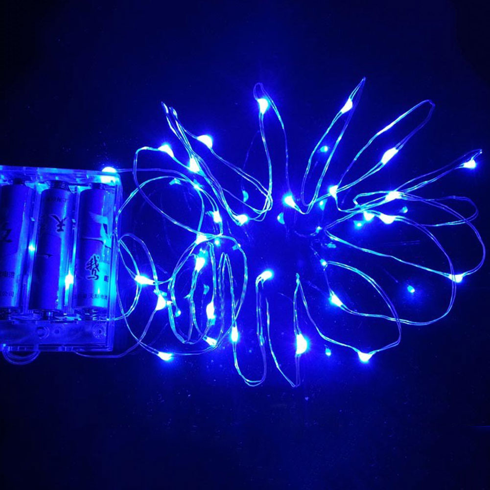 5M 50LED Copper Wire String Strip Fairy Light Christmas W/Battery Case