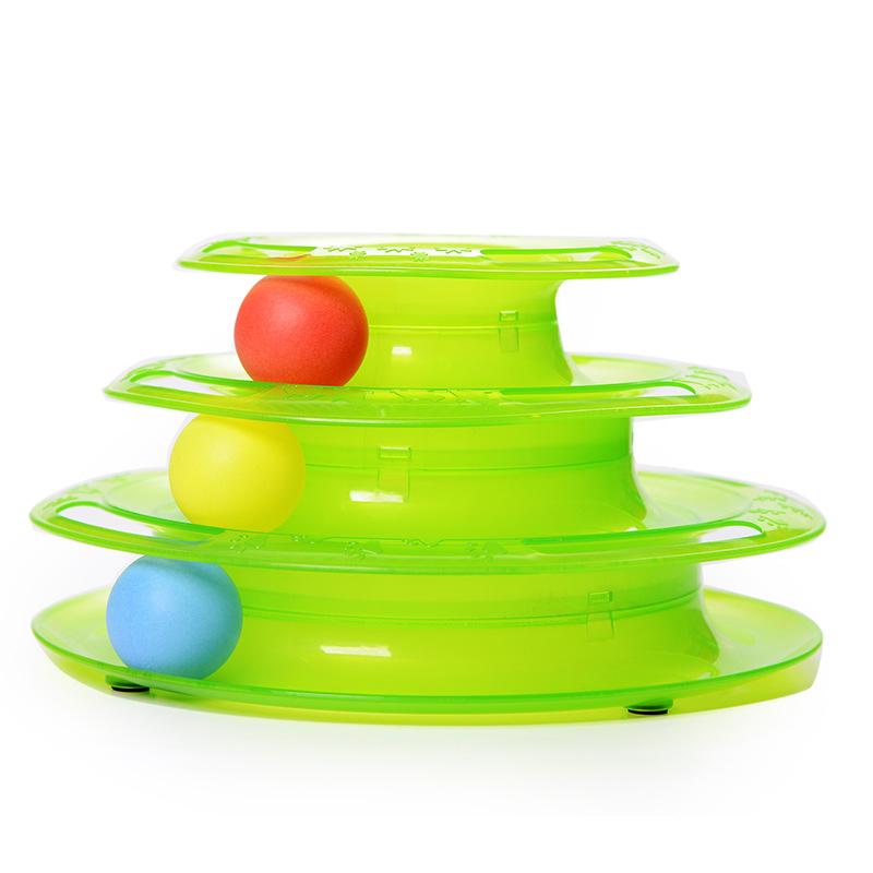 6170-Three-Levels-Tower-Disc-Cat-Pet-Toy-Intelligence-Amusement-Rides-Shelf