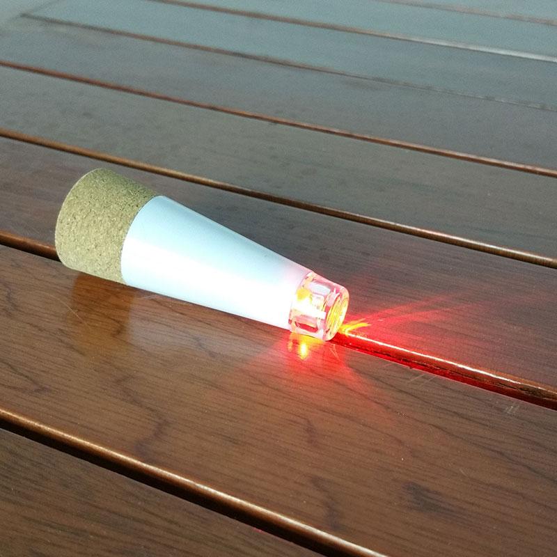 Cork shaped led wine bottle stopper light usb rechargeable for Wine bottle night light diy