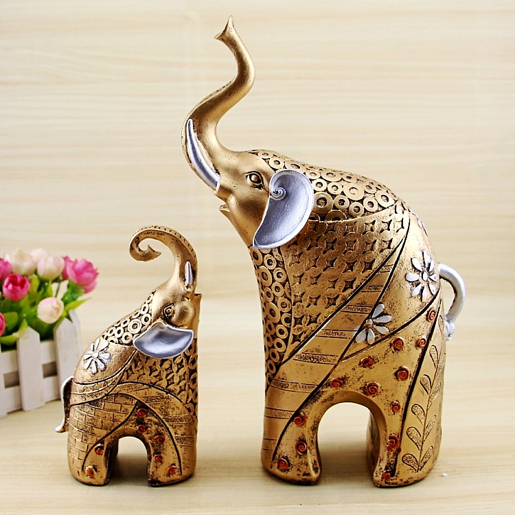 Elephant statue animal ornaments home decor living room cabinets decoration ebay Elephant home decor items