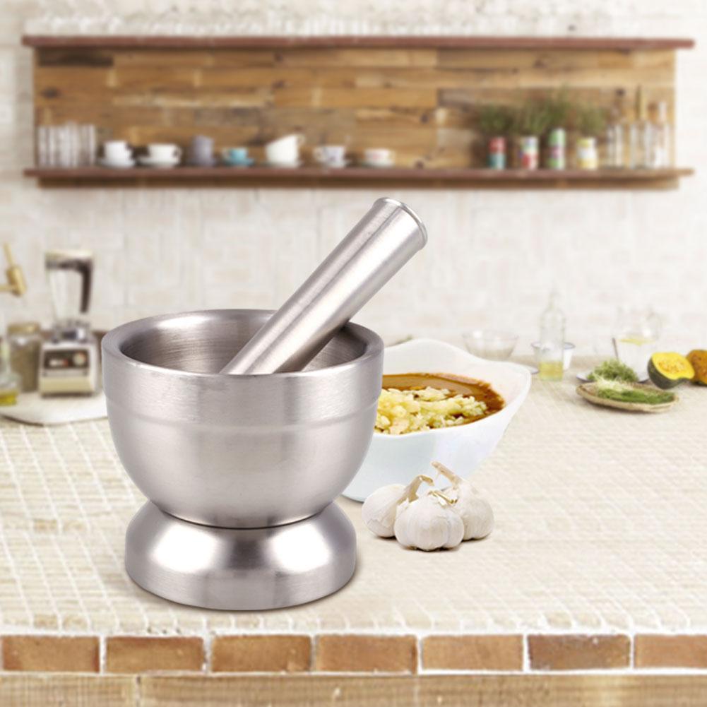 Stainless steel mortar pestle garlic pugging pot bowl