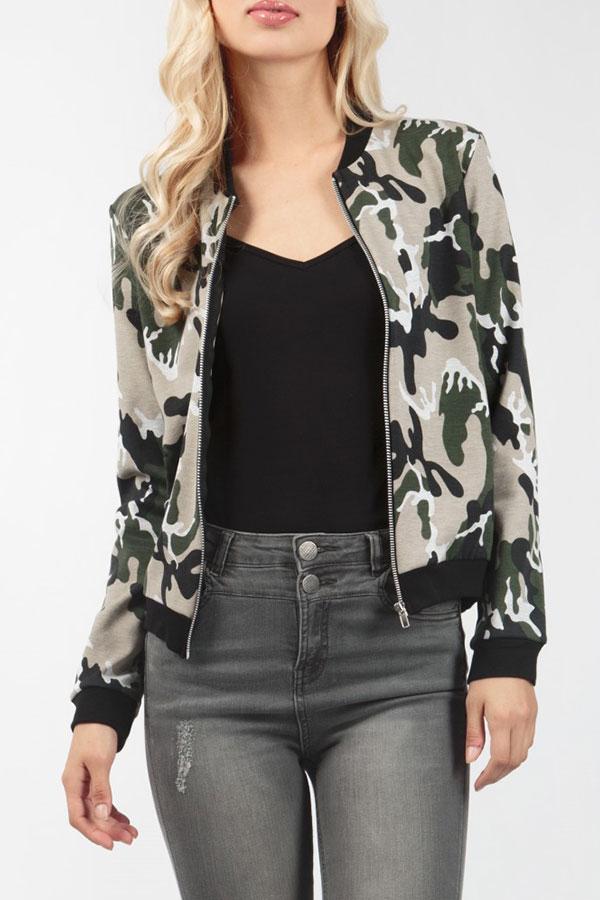 Women-Zipper-Camouflage-Jacket-Lightweight-Trench-Blazer-Outwear-Coats